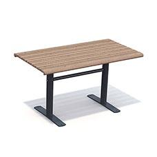 Picknickbord & Parkbord | Parkbord Sofiero Barkbrun-Svart