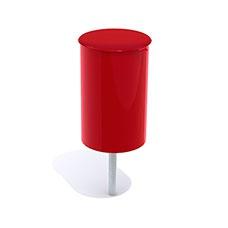 Papperskorgar | Papperskorg Poppel 25L Röd