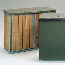 Säckhållare | Säckskåp med 3 inkast