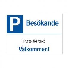 Trafikskyltar | Besökande (med plats för text)