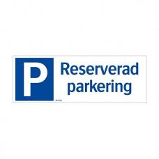 Parkeringsskyltar | Reserverad Parkering (liggande skylt)