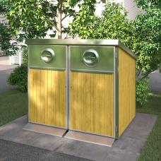 Sopkärl & Kärlskåp | Kärlskåp i trä 2 x 370L