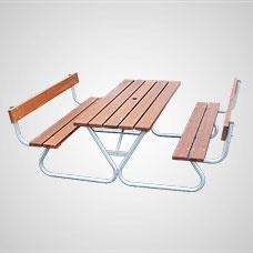 Picknickbord & Parkbord | Robust Picknickbord med ryggstöd