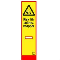 Varningsskyltar | BLF-skärm Risk för snöras