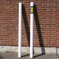 Kantstolpar | Kantstolpe oval gul reflex på 1 sida