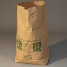 Sopsäckar & Soppåsar | Sopsäckar av våtstarkt kraftpapper enbladig 125L 1500 st