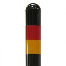 Pollare | Reflex för Trafikpollare svart, låsbar