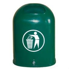 Papperskorgar | Papperskorg Otto i grön plast 42L