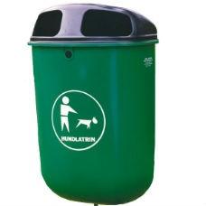 Hundlatriner | Hundlatrin Otto 50L med plastbehållare och svart galvaniserat plåtlock