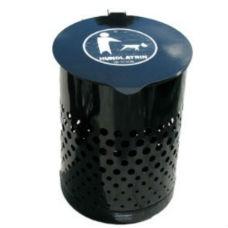 Hundlatriner | Hundlatrin Cylinder med dubbla lock, svart