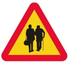 Varningsskyltar | Varningsskylt - äldre par