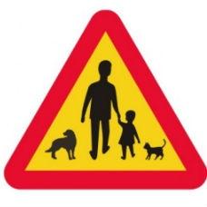 Trafikskyltar | Varningsskylt - djur, barn och vuxna
