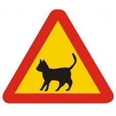 Varningsskyltar | Varningsskylt - katt