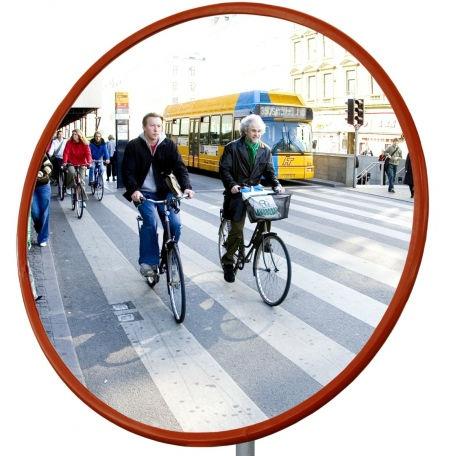 Trafikspeglar | Rund trafikspegel 80 cm i polykarbonat (vandalresistent)