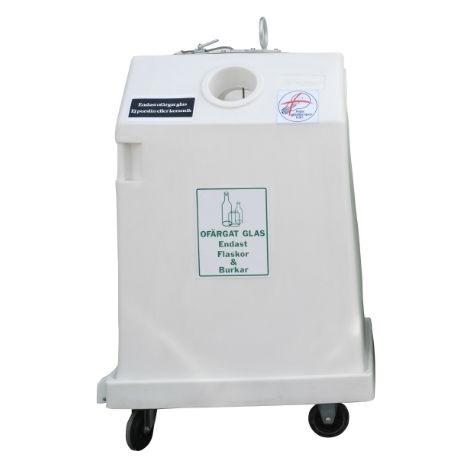 Sophantering & Återvinning | Behållare för glasåtervinning 0,8 m3 ofärgat glas