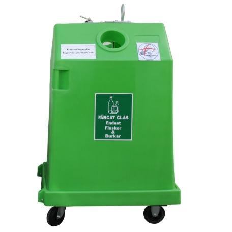 Sophantering & Återvinning | Behållare för glasåtervinning 0,8 m3 färgat glas