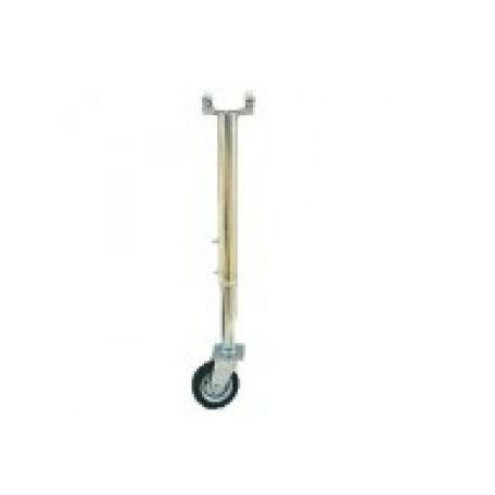 Bommar & Avspärrning | Stödben med hjul till väggrind teleskopisk 5,2-9,5m