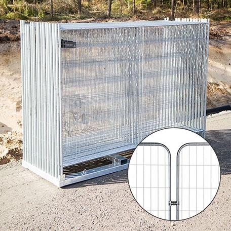 Byggstängsel | Byggstängsel Protect Rundade hörn 105 m på transportpall