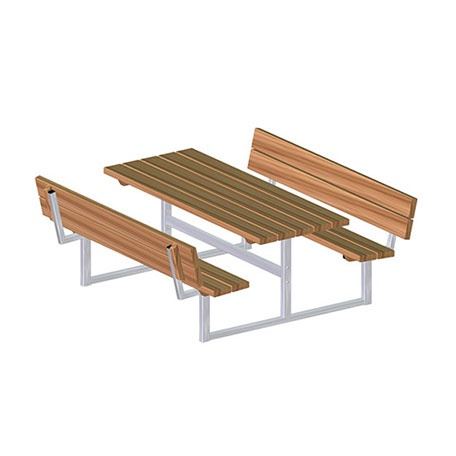 Picknickbord & Parkbord | Bänkbord Idun med ryggstöd