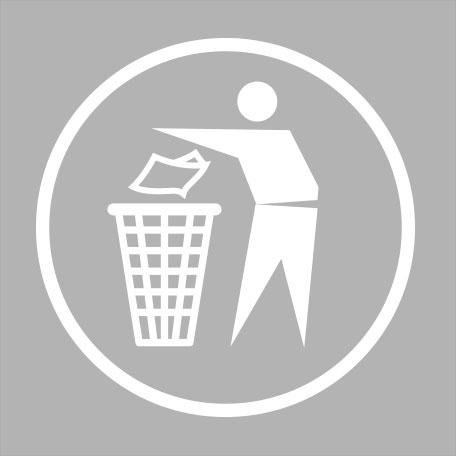 Papperskorgar | Dekal Papperskorg