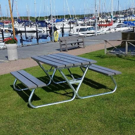 Picknickbord & Parkbord | Robust Picknickbord i grått