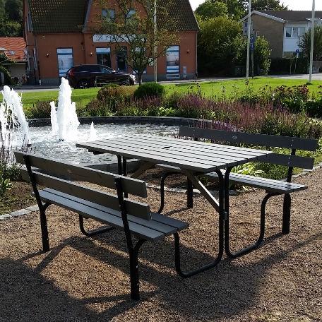 Picknickbord & Parkbord | Steel Picknickbord 150 cm 6 pers grå