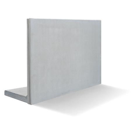 Stödmurar & L & stöd | L-stöd slät, längd 1000 mm, not-not 20kN