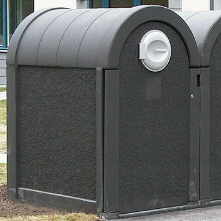 Sopkärl & Kärlskåp | Betong-kärlskåp med bågformat tak