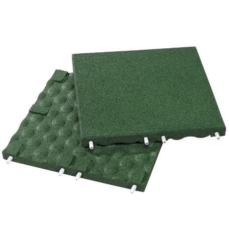 Fallskyddsplattor | Fallskydd grön 30-90 mm