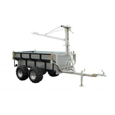 ATV Vagnar & Tillbehör | Kombivagn med flak och kran 3500