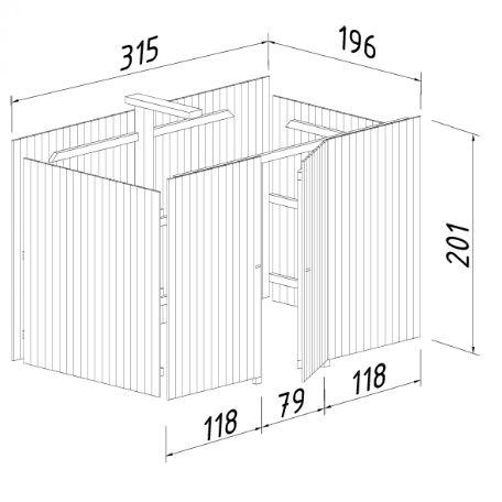 Carportar | Förråd till Carport 23,1 m2