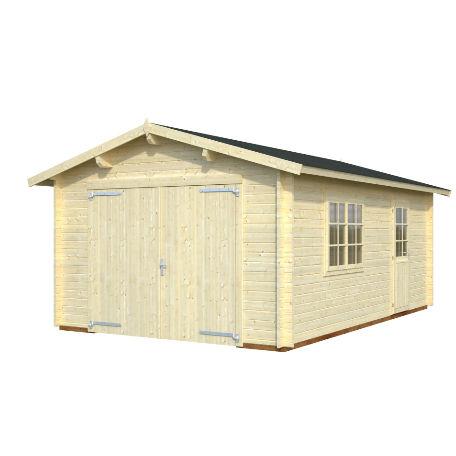 Garage & Utehus | Garage 23,9 m2 med portar av trä