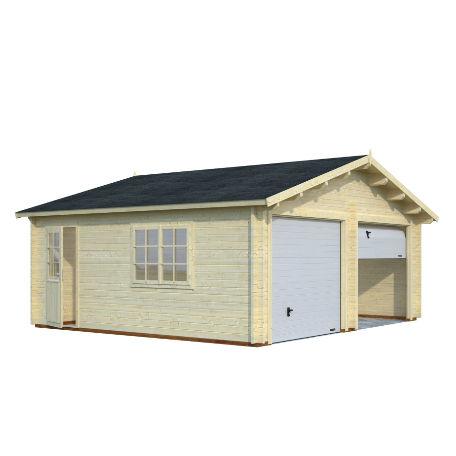 Garage & Utehus | Dubbelgarage 28,4 m2 med vipport