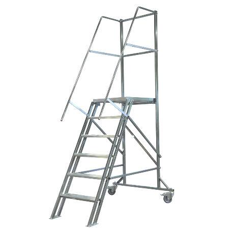 Arbetsplattformar | Rullbar arbetsplattform TMR Stål - Trappa Med Räcke 1,2M