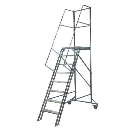 Arbetsplattformar | Rullbar arbetsplattform TMR Stål - Trappa Med Räcke 1,6M