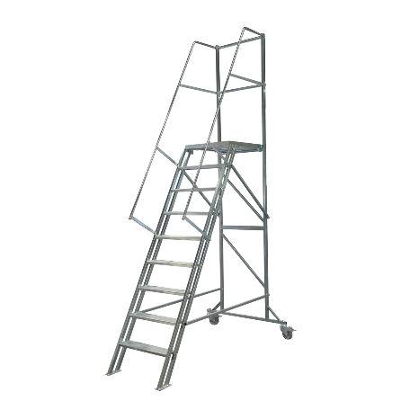 Arbetsplattformar | Rullbar arbetsplattform TMR Stål - Trappa Med Räcke 2,4M