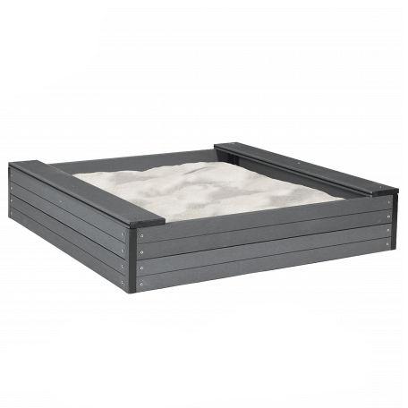 Sandlådor | Sandlåda 120x120 cm i underhållsfri komposit inkl sand