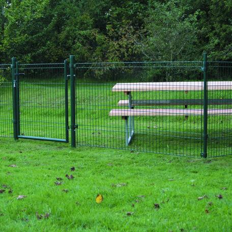 Staket & Stängsel | Komplett grönt panelstängsel inkl grind