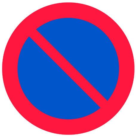 Trafikskyltar | Förbud mot att parkera fordon