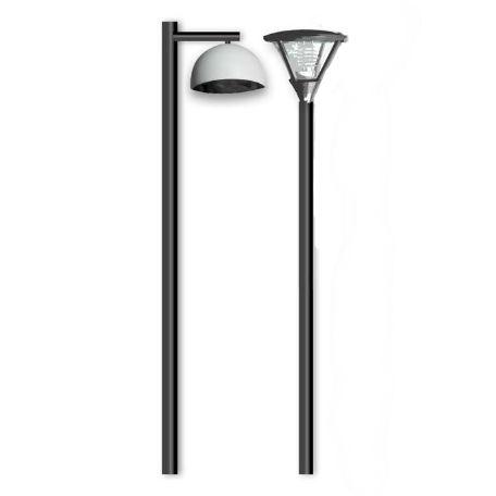 Belysningsstolpar | Nobel designstolpe rak i stål 3-7m