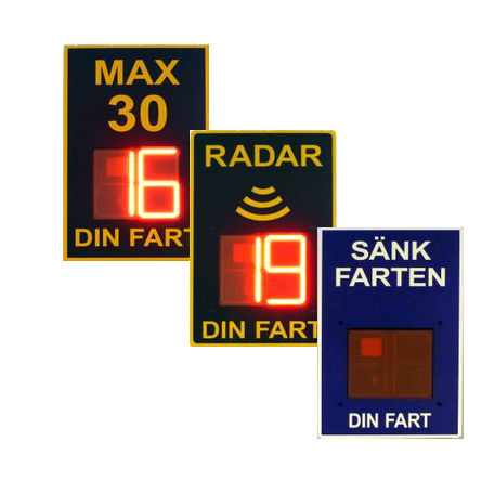 Hastighetsdisplay   Standardskyltar