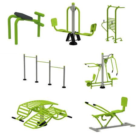 Utegym | Gympaket 7 enheter