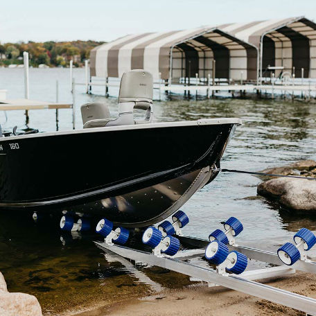 Båtramper & vattenskoterramper  | Strandramp för båtar 910 kg
