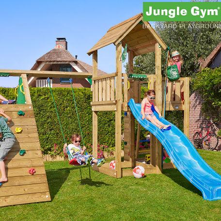 Lektorn | Jungle Gym Mansion lektorn med klättermodul och 1 gunga