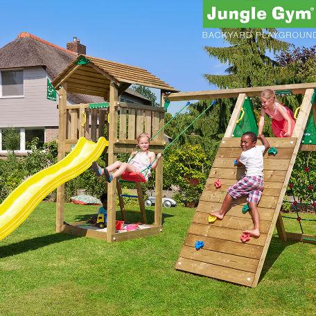 Lektorn | Jungle Gym Cottage lektorn med klättermodul och 1 gunga