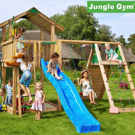 Lektorn | Jungle Gym lektorn Chalet med klättermodul och 1 gunga