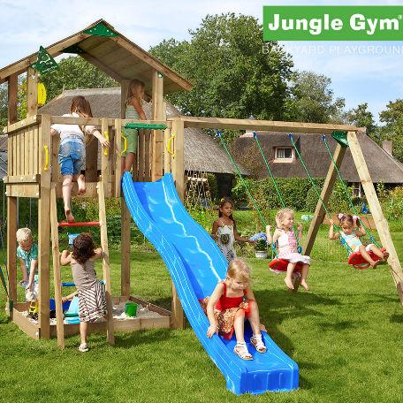 Lektorn | Jungle Gym lektorn Chalet med  2 gungor