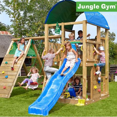 Lektorn | Jungle Gym Farm lektorn med klättermodul och 1 gung