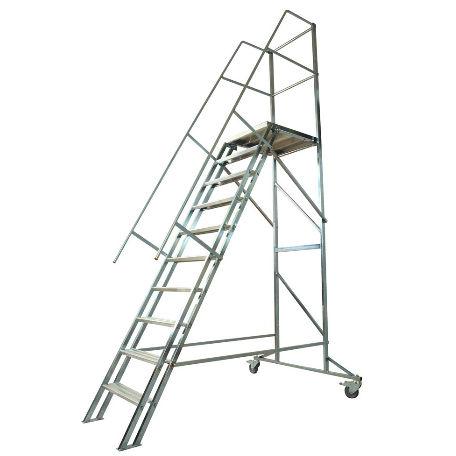 Arbetsplattformar | Trappa med räcke Proffs 1,2 - 3 m
