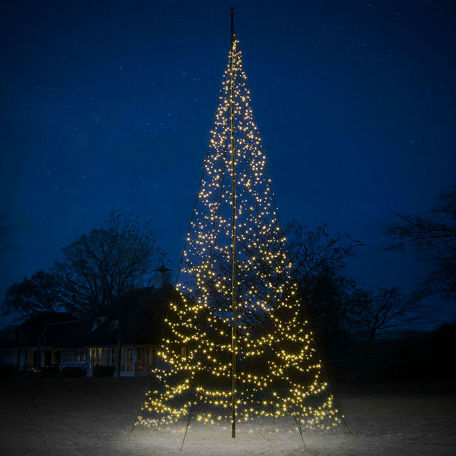 Flaggstångsbelysning | Julbelysning Fairybell 8 m 1500 LED